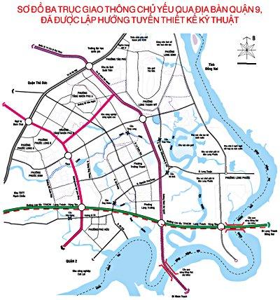 sơ đồ giao thông quận 9